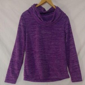 NWOT Exertek Purple Fleece Cowl Neck Pullover